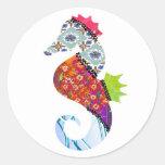 Seahorse Patchwork Pet Stickers