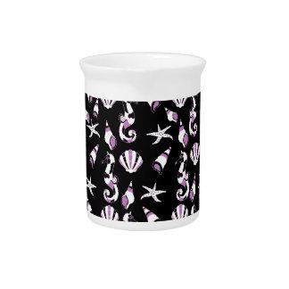 Seahorse pattern beverage pitcher