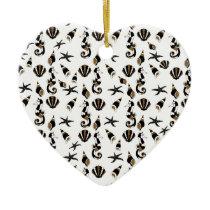 Seahorse pattern ceramic ornament
