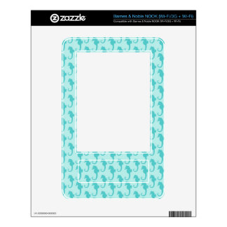 Seahorse Pattern Decal For NOOK
