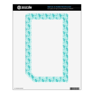 Seahorse Pattern Decal For The NOOK Color