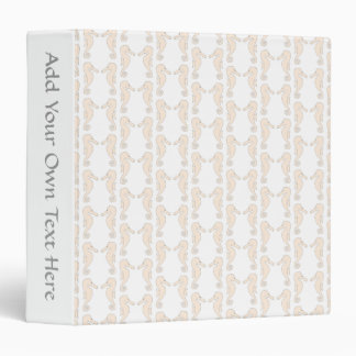 Seahorse pattern in cream color. binder
