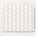 Seahorse pattern in cream color. mousepads