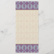 Seahorse Pattern in Gray and Purple