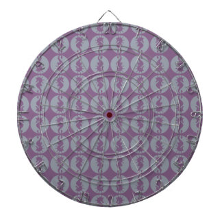 Seahorse Pattern in Gray and Purple Dart Boards
