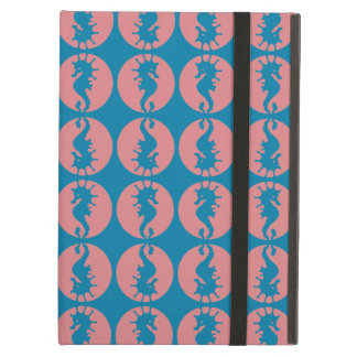 Seahorse Pattern in Melon and Dark Teal Cover For iPad Air