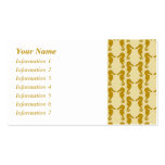 Seahorse Pattern in Tan and Brown. Business Card Templates