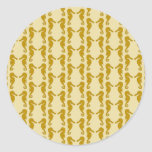 Seahorse Pattern in Tan and Brown. Stickers