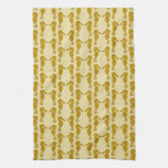 Seahorse Pattern in Tan and Brown. Towels