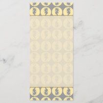 Seahorse Pattern in Yellow and Gray