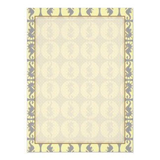 Seahorse Pattern in Yellow and Gray Card