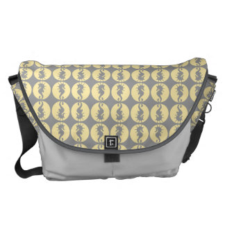 Seahorse Pattern in Yellow and Gray Courier Bag