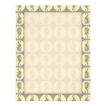 Seahorse Pattern in Yellow and Gray Flyer
