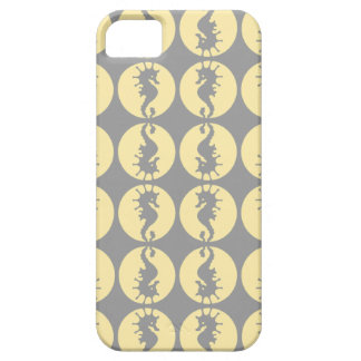 Seahorse Pattern in Yellow and Gray iPhone SE/5/5s Case