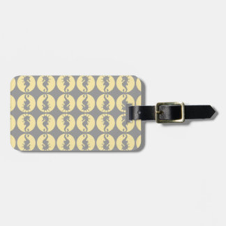 Seahorse Pattern in Yellow and Gray Luggage Tag