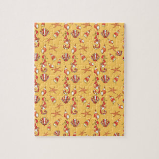 Seahorse pattern jigsaw puzzle