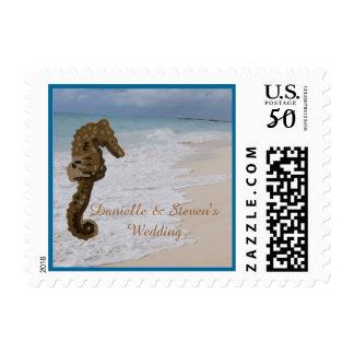 Seahorse Personalized Wedding Postage