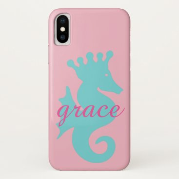 Beach Themed Seahorse phone case