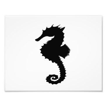 Beach Themed Seahorse Photo Print