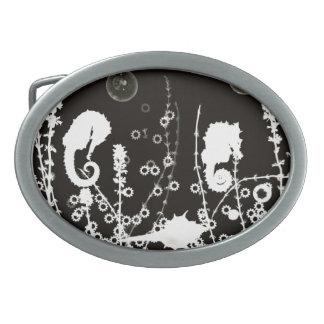 seahorse photogram belt buckle