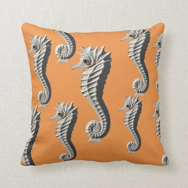 Beach Themed Seahorse Pillow