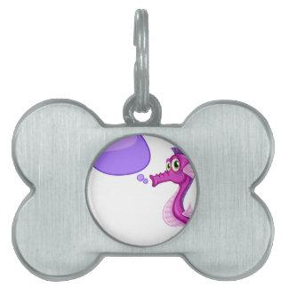 Seahorse Placa De Mascota