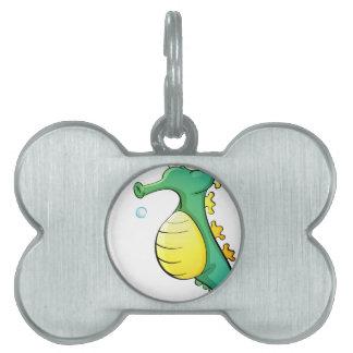 Seahorse Placas De Mascota