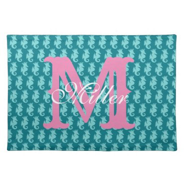 Beach Themed Seahorse Placemats Personalize