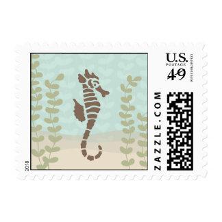 Seahorse Postage Stamp