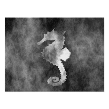 Beach Themed Seahorse Poster
