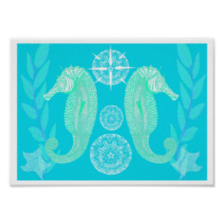 Seahorse Poster Print
