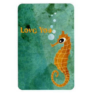 Seahorse Rectangle Magnet