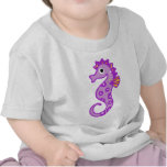Seahorse púrpura camisetas