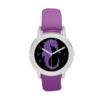Seahorse púrpura relojes de mano