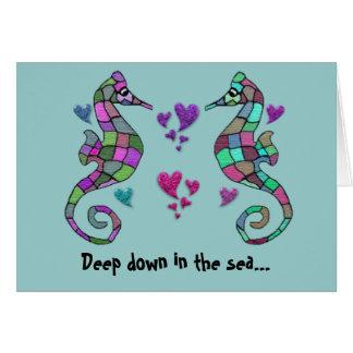 Seahorse Rainbow Valentines Cards