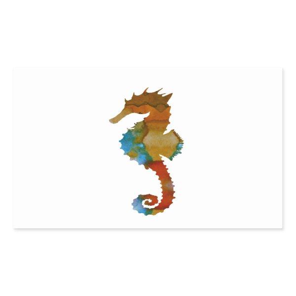 Seahorse Rectangular Sticker