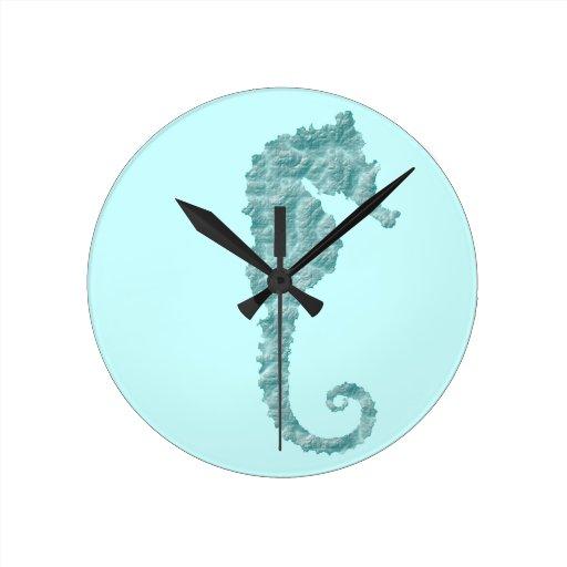 seahorse relojes de pared