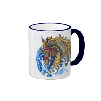 """Seahorse"" Ringer Coffee Mug"