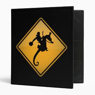 Seahorse Rodeo Warning Sign Binder