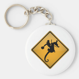 Seahorse Rodeo Warning Sign Key Chains
