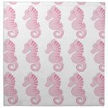 Seahorse rosado lindo servilleta de papel