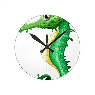 Seahorse Round Clock