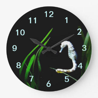 Seahorse Round (Large) Wall Clock Clock