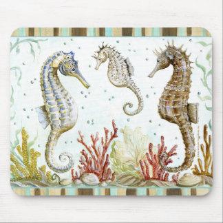Seahorse Sanctuary by Kate McRostie Mouse Pads