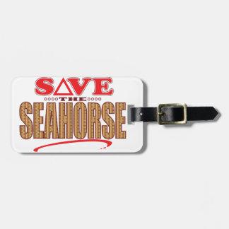 Seahorse Save Bag Tag