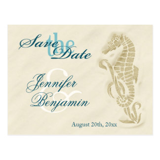 Seahorse Save the Date Postcards