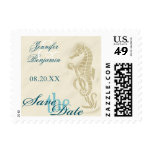 Seahorse Save the Date Stamps