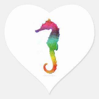 Seahorse - Save The Sea - Sea Horses Heart Sticker