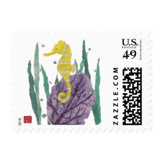 Seahorse, Sea Fan, Stamps
