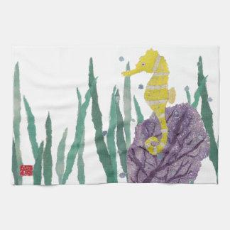 Seahorse, Sea Fan, Tropical Towel